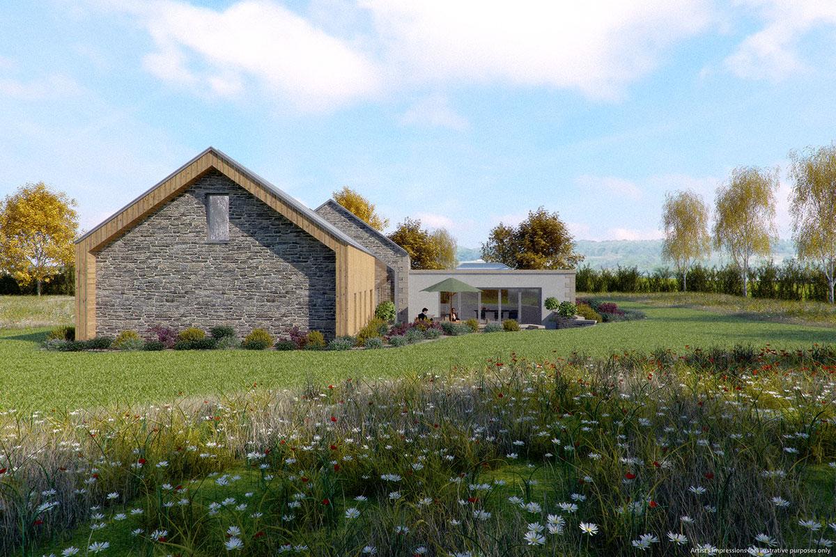 modern new build home in greenbelt