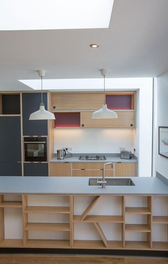 incorporated storage into kitchen