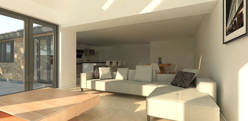 new build contemporary house in chesterfield internal view 2