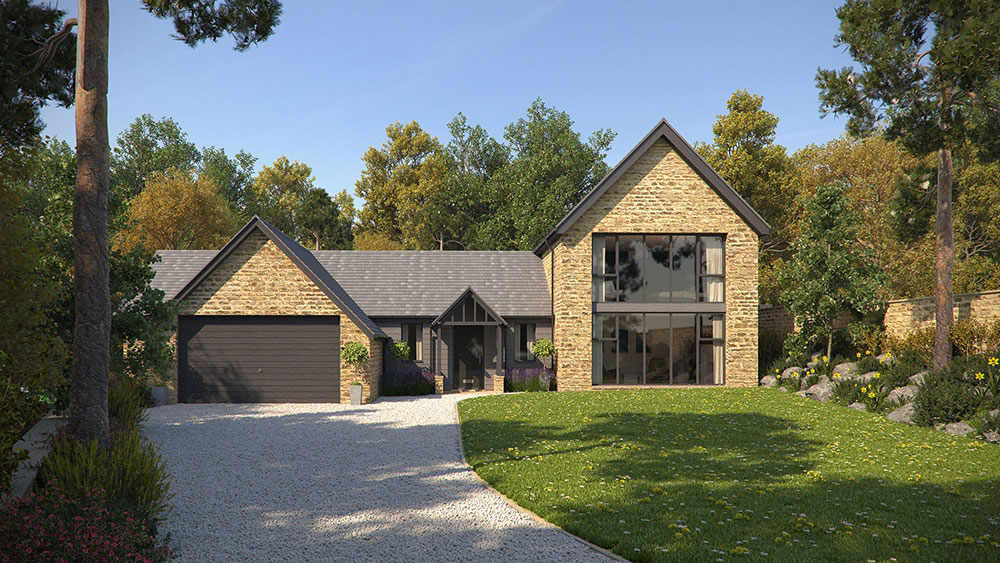 new build contemporary self build house in sheffield