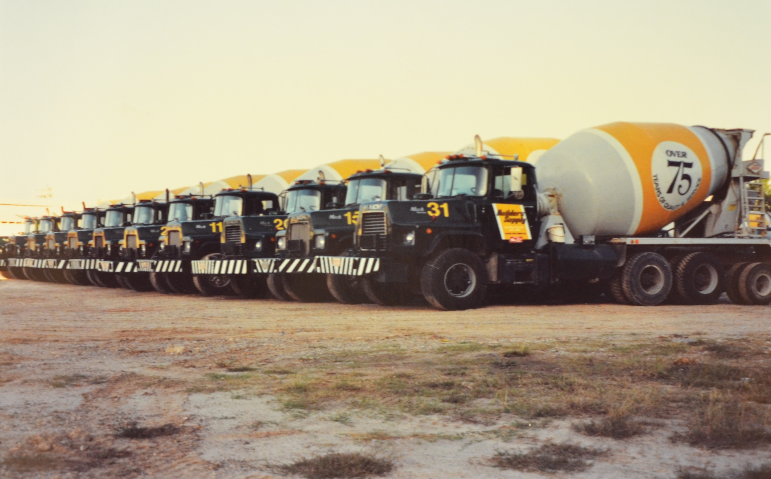 In 1978, Builders Supply started purchasing Mack trucks like these shown here.