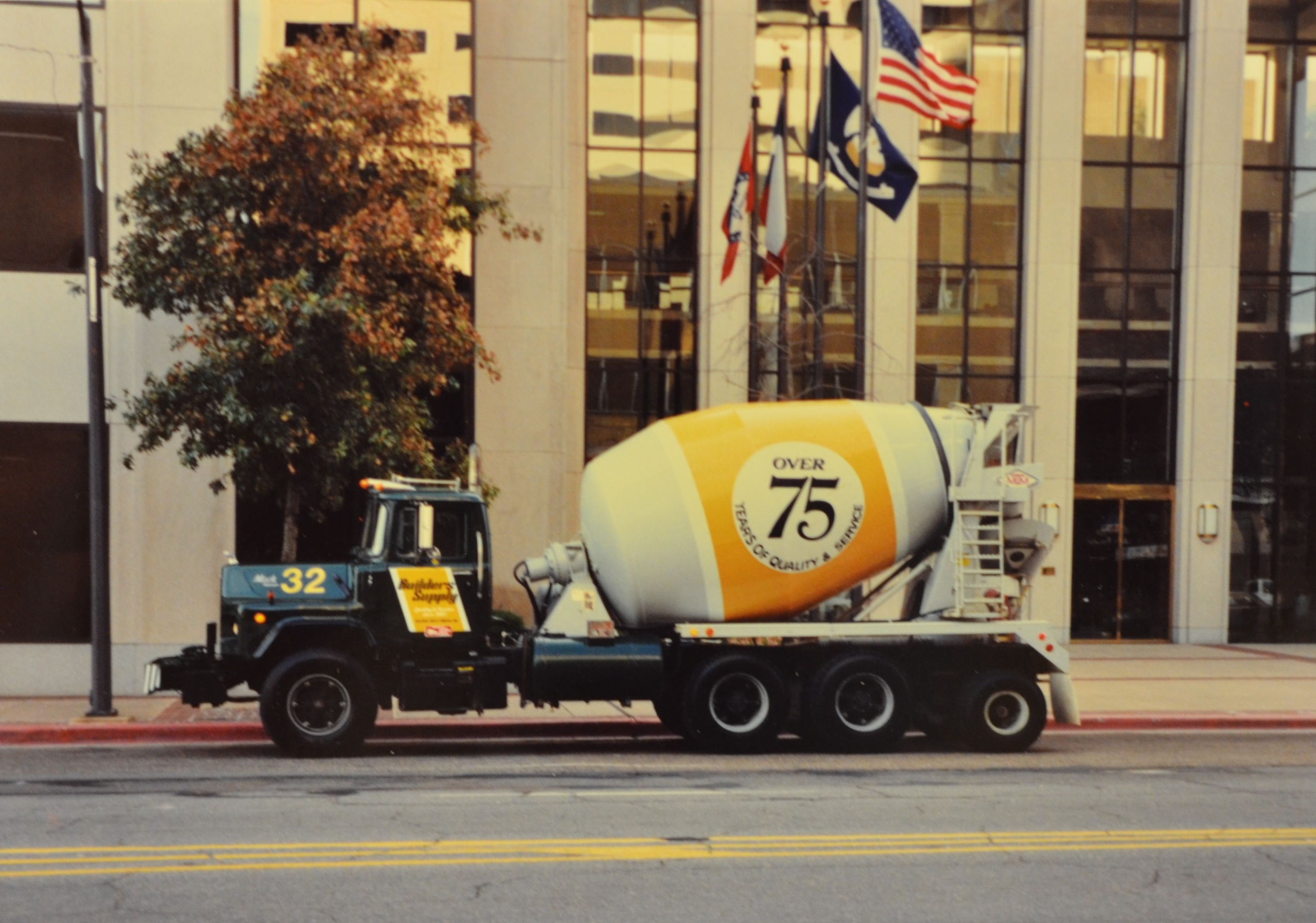 (1986 Commercial National Bank)Builders Supply supplied all the concrete for the Commercial National Bank. The building is now known as the Regions Bank Tower and at 26 stories it is the still the tallest building in Shreveport.