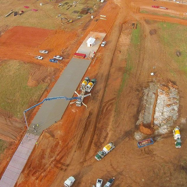Aerial photo of Builders family at work.