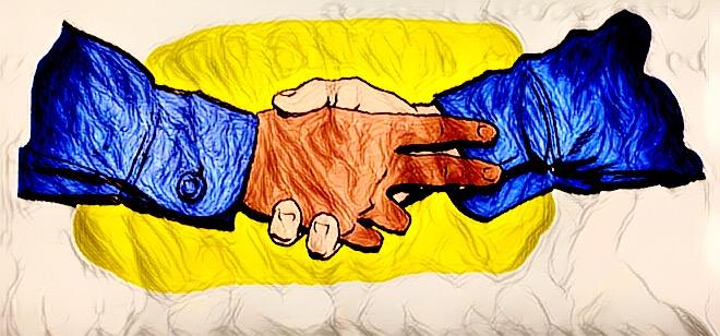 童子军握手