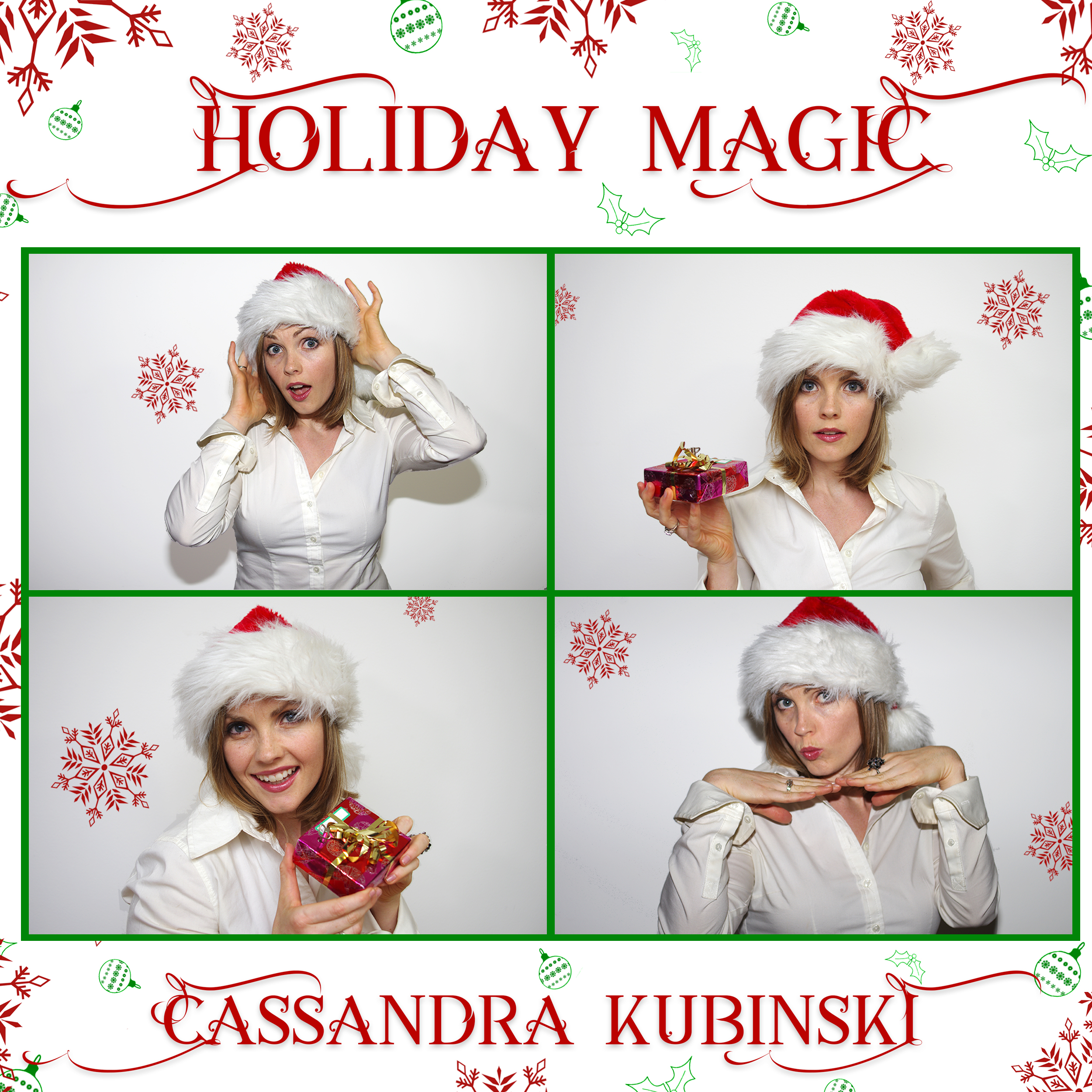 "THANK YOU to our fans for streaming these songs on Pandora over 10,000 times daily through the holiday season! You can keep listening on Pandora by creating a ""Cassandra Kubinski"" channel anytime!"