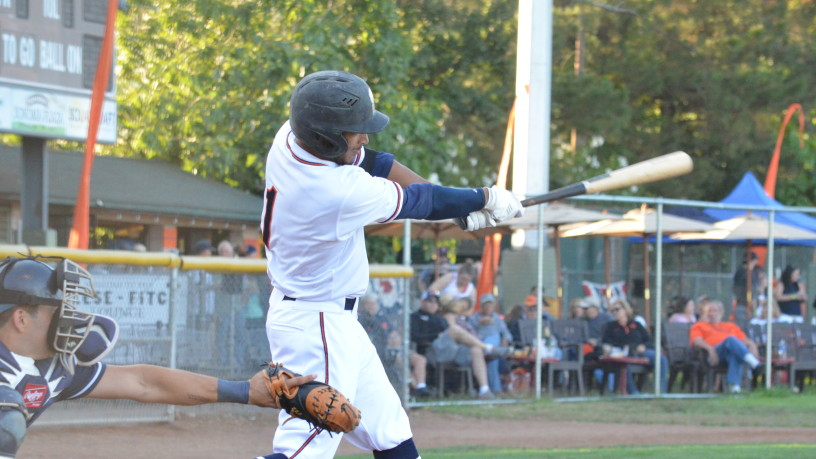 Matt Hibbert's two-run homer in the second proved to be the game-winning hit in Sonoma's win over Vallejo Friday night.   James Toy III/Sonoma Stompers