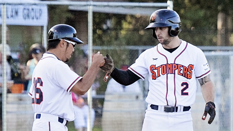 Brennan Metzger adds even more talent to the best group of outfielders in the Pacific Association.   Danielle Putonen/Sonoma Stompers