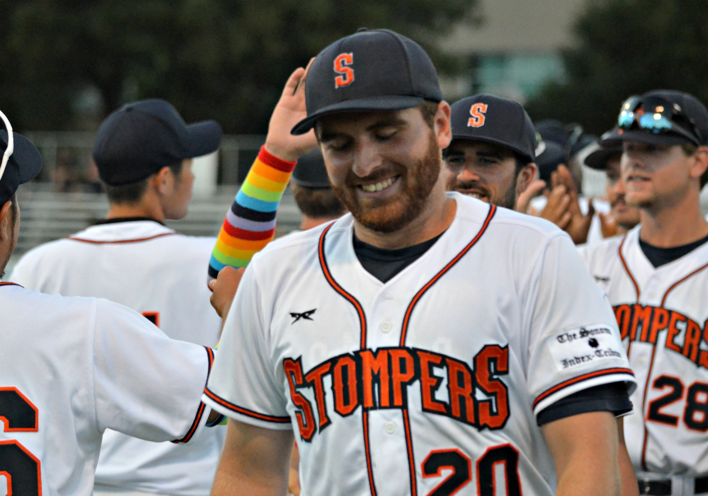 Sean Conroy smiles after his historic start on Thursday night.   James Toy III/Sonoma Stompers