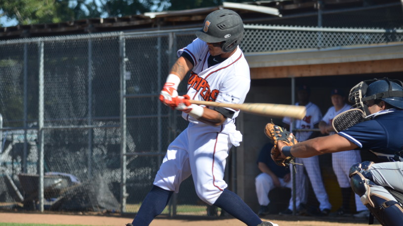 Gered Mochizuki had a three-hit night and added a walk, bringing his triple-slash stats to .300/.375/.500. Seven of Sonoma's nine regulars are batting .300 or better so far in 2015.   James Toy III/Sonoma Stompers