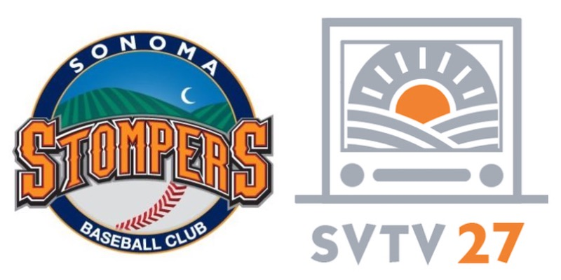 SVTV 27 will broadcast at least 12 games this season for the Stompers, beginning with the team's home opening series on June 7.   Sonoma Stompers