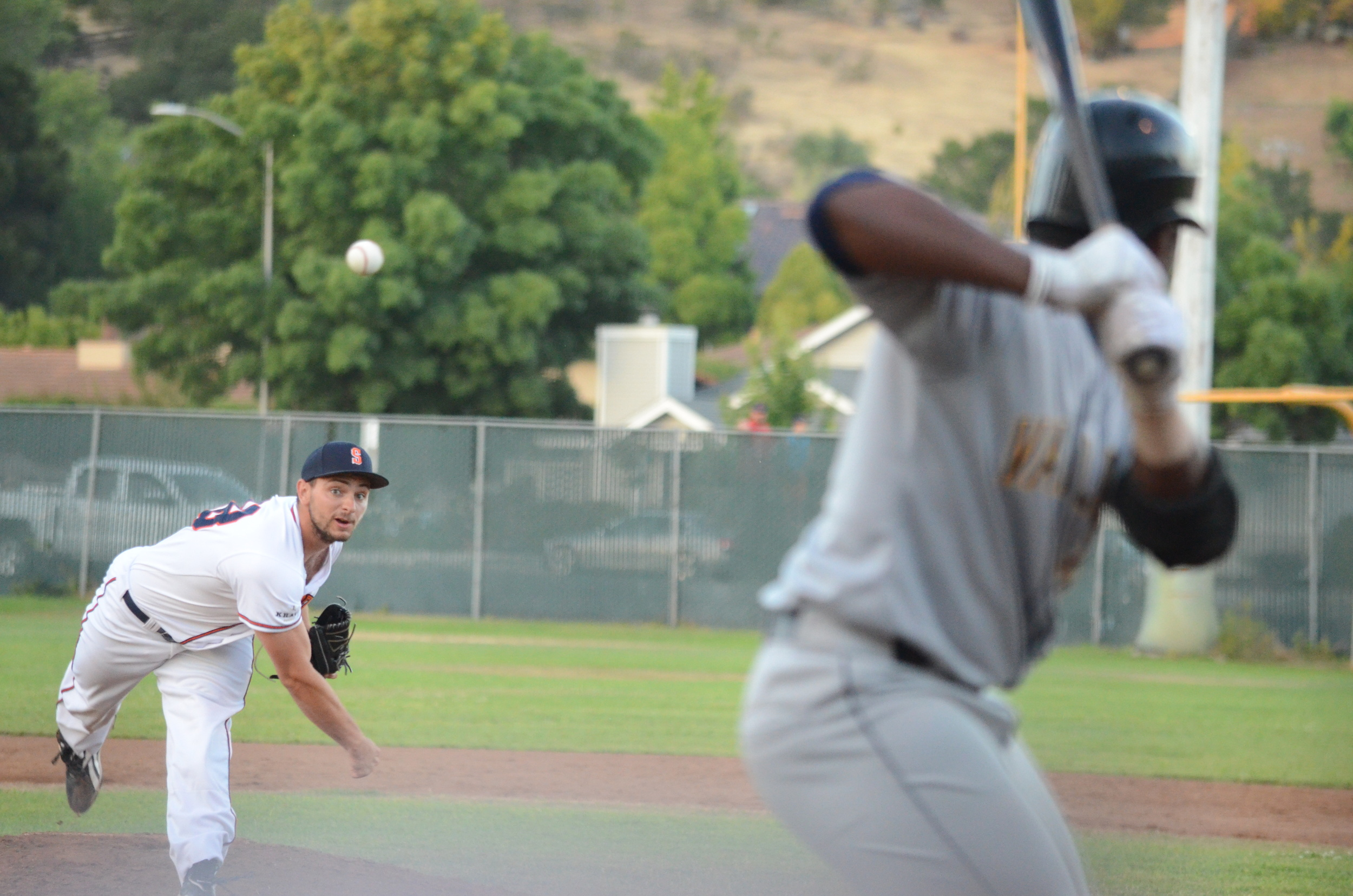 Eric Mozeika impressed with four shutout innings out of the bullpen in Sonoma's 8-4 win.   James Toy III/ Sonoma Stompers