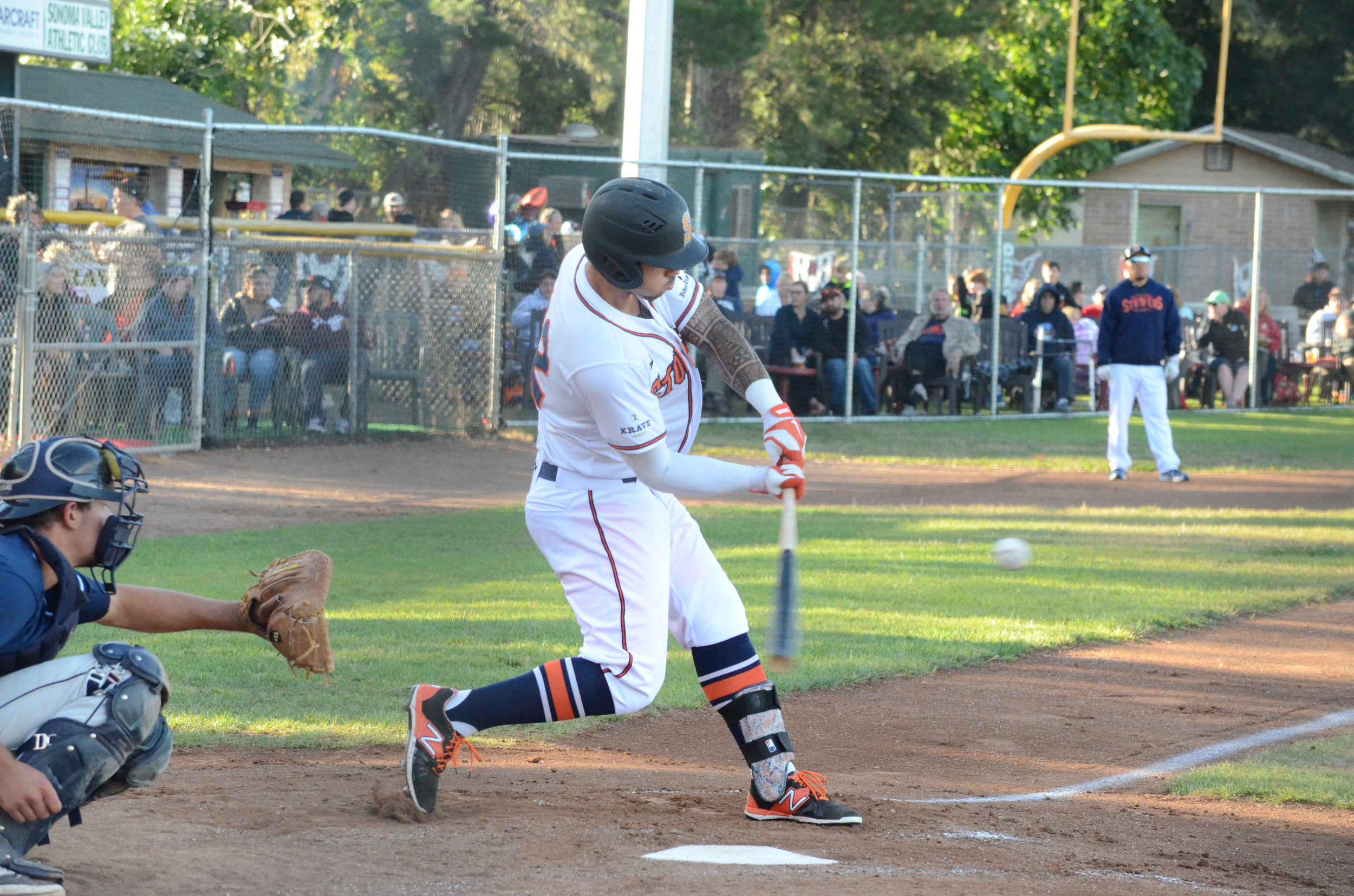 Mark Hurley finished 3 for 3 in Sonoma's 3-1 loss to the Pacifics Wednesday.   James Toy III/ Sonoma Stompers