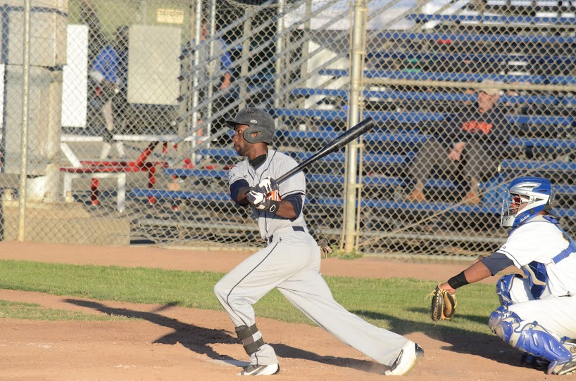 Derrick Fox finished 2 for 5 in Wednesday's loss to the Diamonds. Fox has now had multiple hits in six of the last nine games he has played in.   James Toy III/Sonoma Stompers