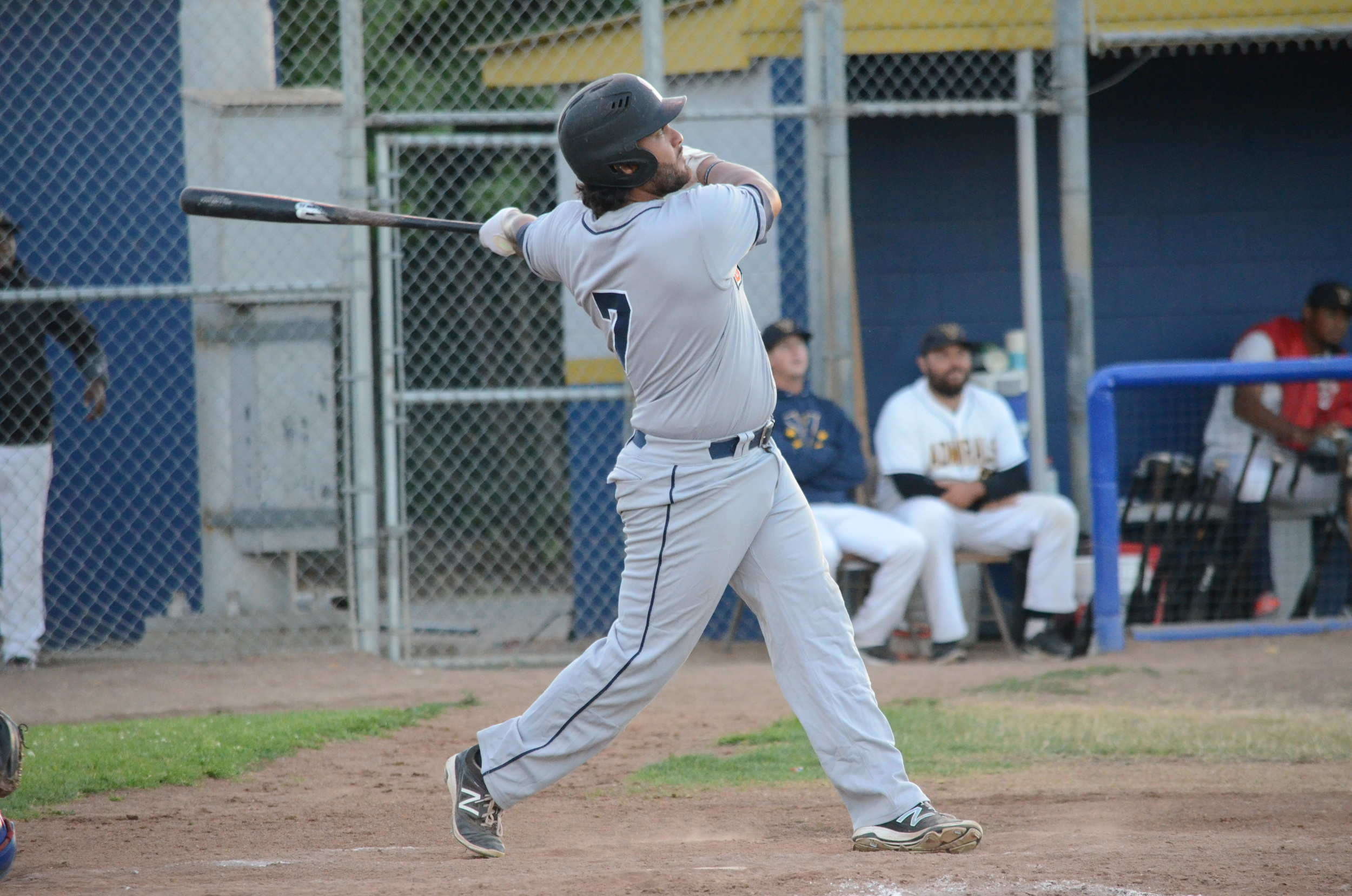 Joel Carranza launched a solo home run to center field in the Stompers 8-3 loss to the Admirals Friday.   James Toy III/Sonoma Stompers