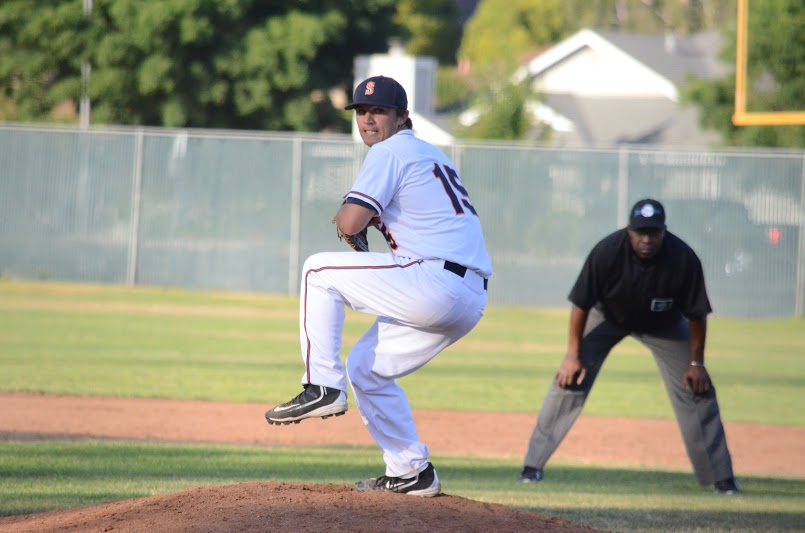 Taylor Thurber threw his second consecutive complete game in a 2-1 loss to the Diamonds. Thurber allowed only 4 hits and struck out nine in nine innings.   James Toy III/ Sonoma Stompers