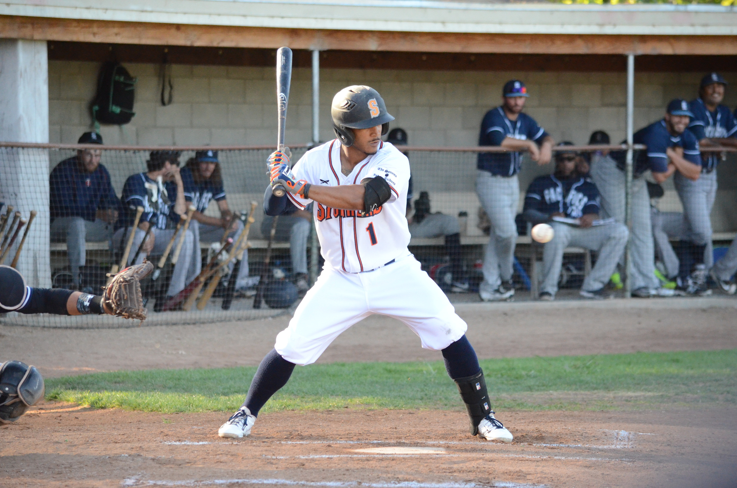 Matt Hibbert got things started at the top of the order in Sonoma's 6-2 win over the Pacifics Thursday. Hibbert finished 2 for 4 with two runs scored as the Stompers won their seventh straight game.   James Toy III/Sonoma Stompers