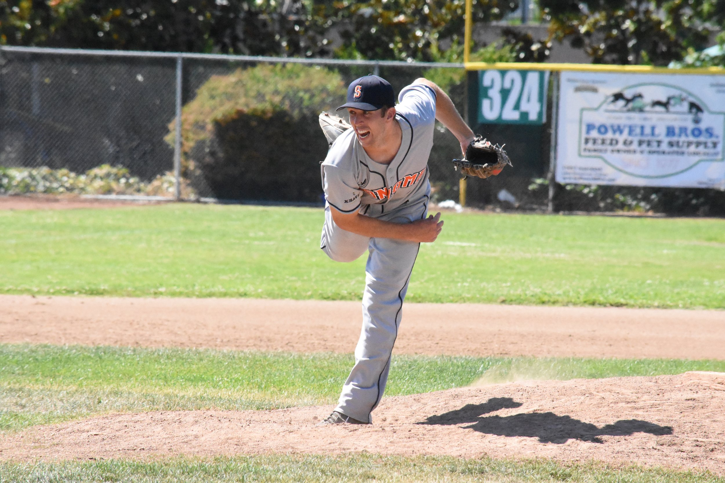 Starter Tyler Garkow had a season high 12 strikeouts in the Stompers 11-3 victory over the Admirals Sunday. Garkow allowed only four hits over seven innings of work.
