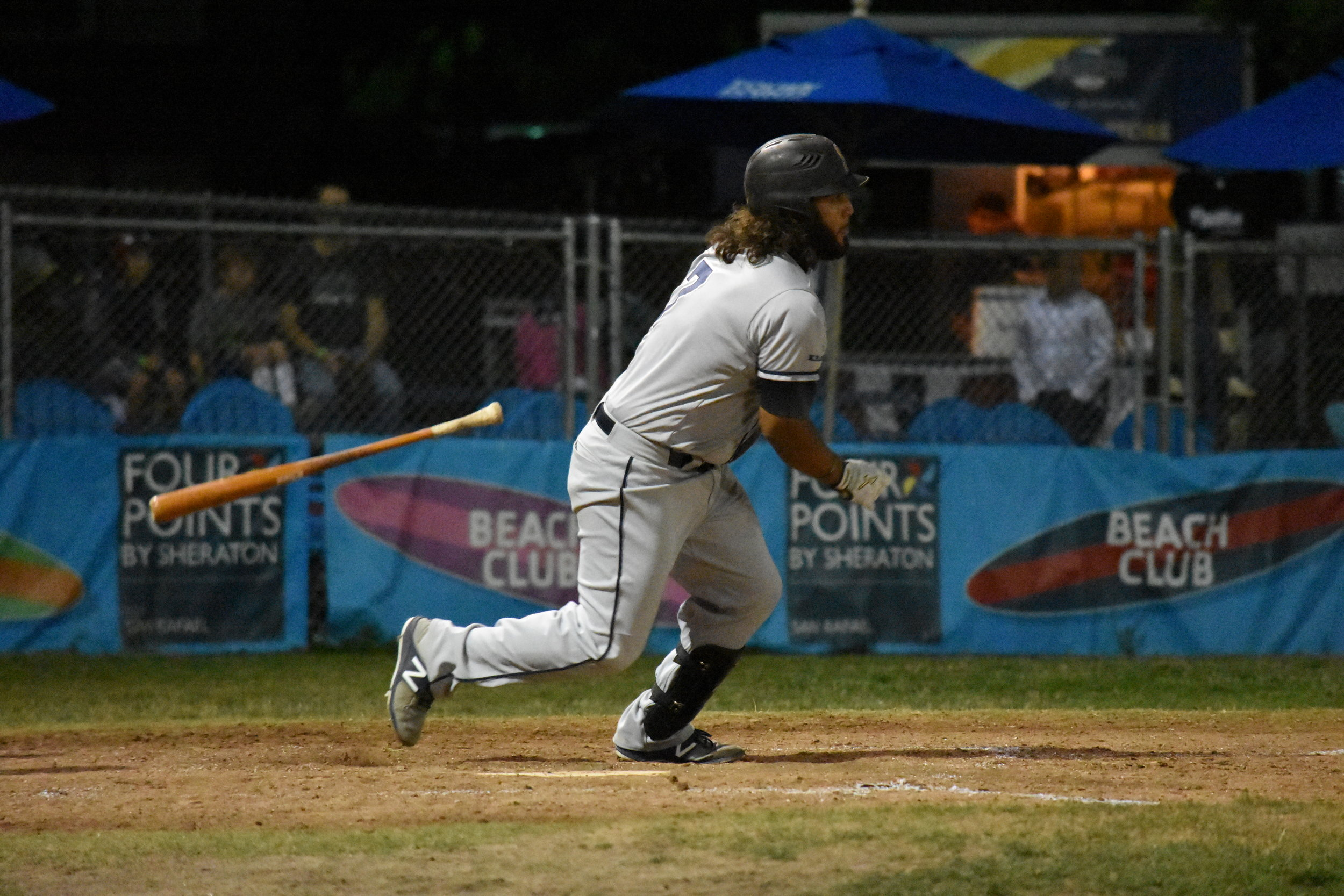 Joel Carranza went 2 for 4 with three RBIs in Tuesday's 8-3 trouncing of the San Rafael Pacifics at Albert Park. (James W. Toy III / Sonoma Stompers)