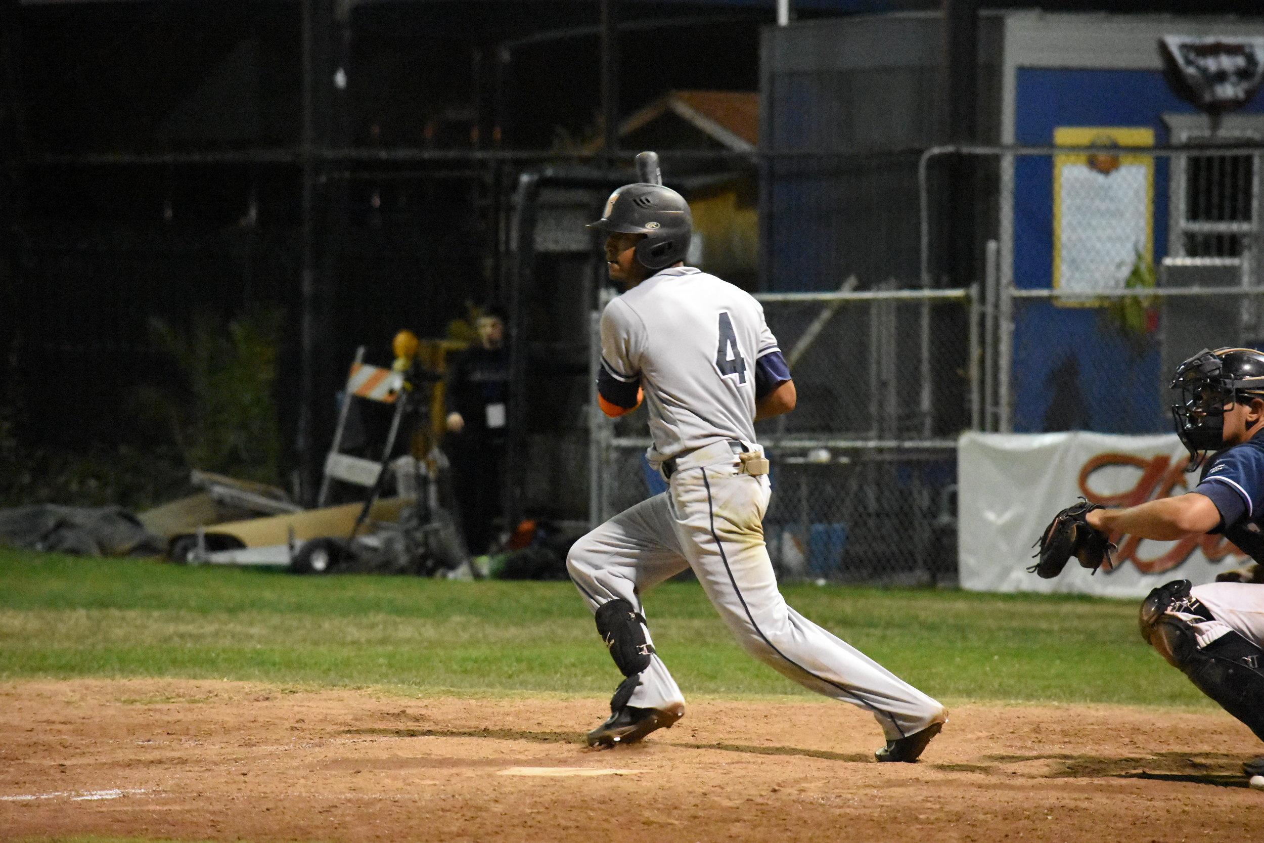 Marcus Bradley went 2 for 4 with two runs batted in, including the tying run in the ninth inning of Friday's 9-4 win over the San Rafael Pacifics at Albert Park (James W. Toy III / Sonoma Stompers)