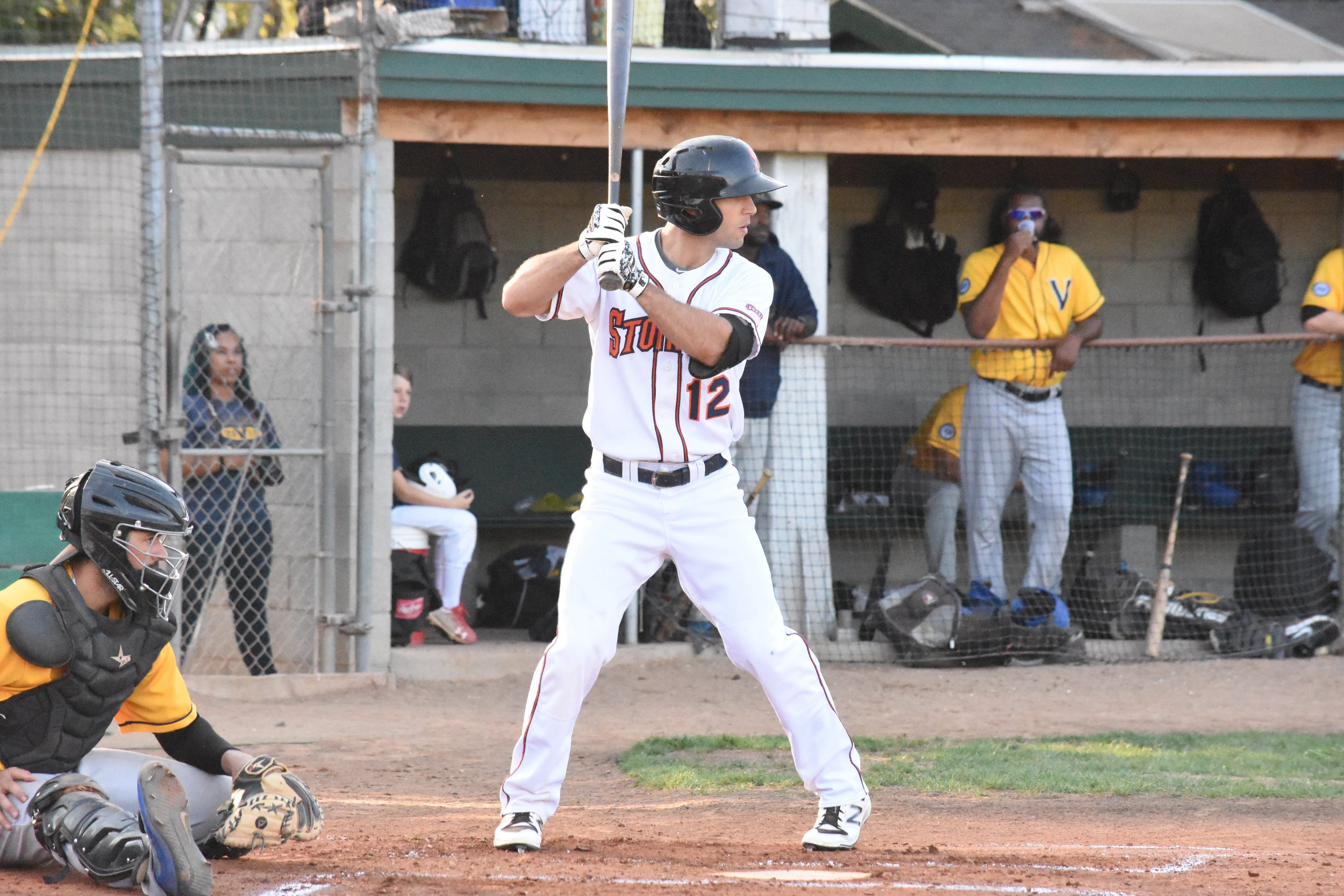 Brennan Metzger was the only Sonoma Stomper to record more than one hit in Tuesday night's 4-1 loss to the Vallejo Admirals. (James W. Toy III / Sonoma Stompers)