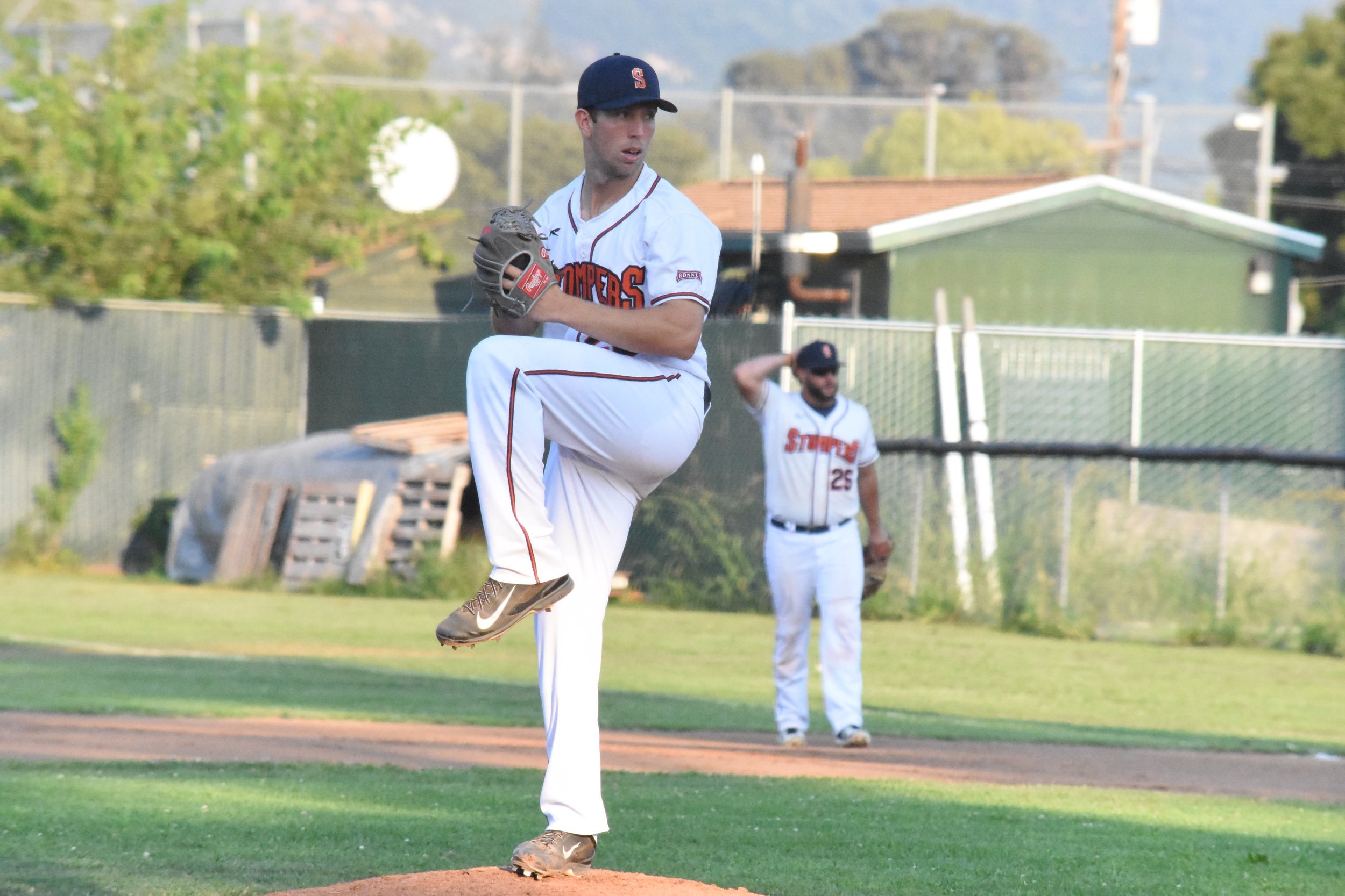 Starter Tyler Garkow struck out eight in Friday's 9-3 win over the Pittsburg Diamonds to give the Stompers back their spot alone at the top of the Pacific Association standings. (James W. Toy III / Sonoma Stompers)