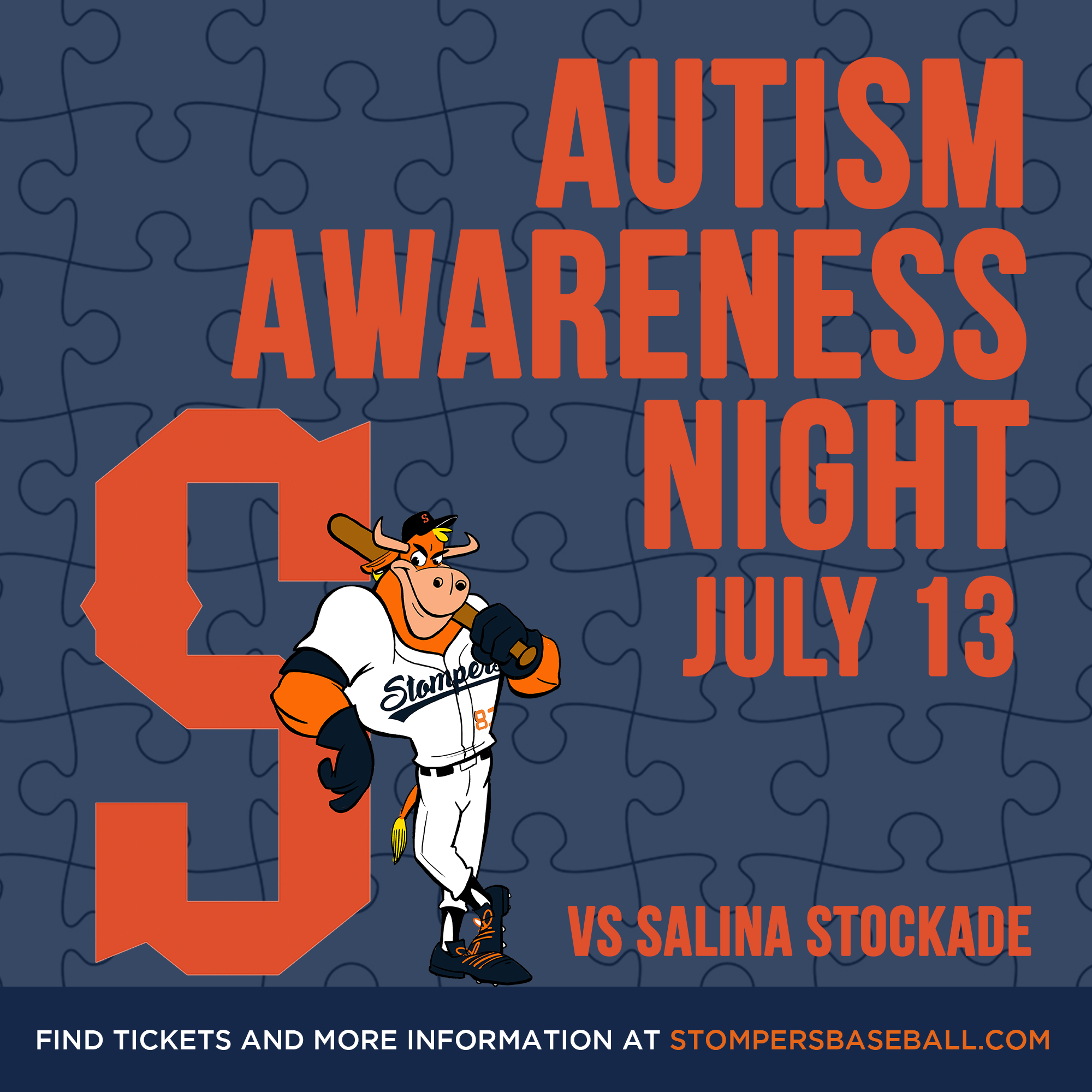 July 13: Autism Awareness Night - Come out for Autism Awareness Night presented by Sweetwater Spectrum!