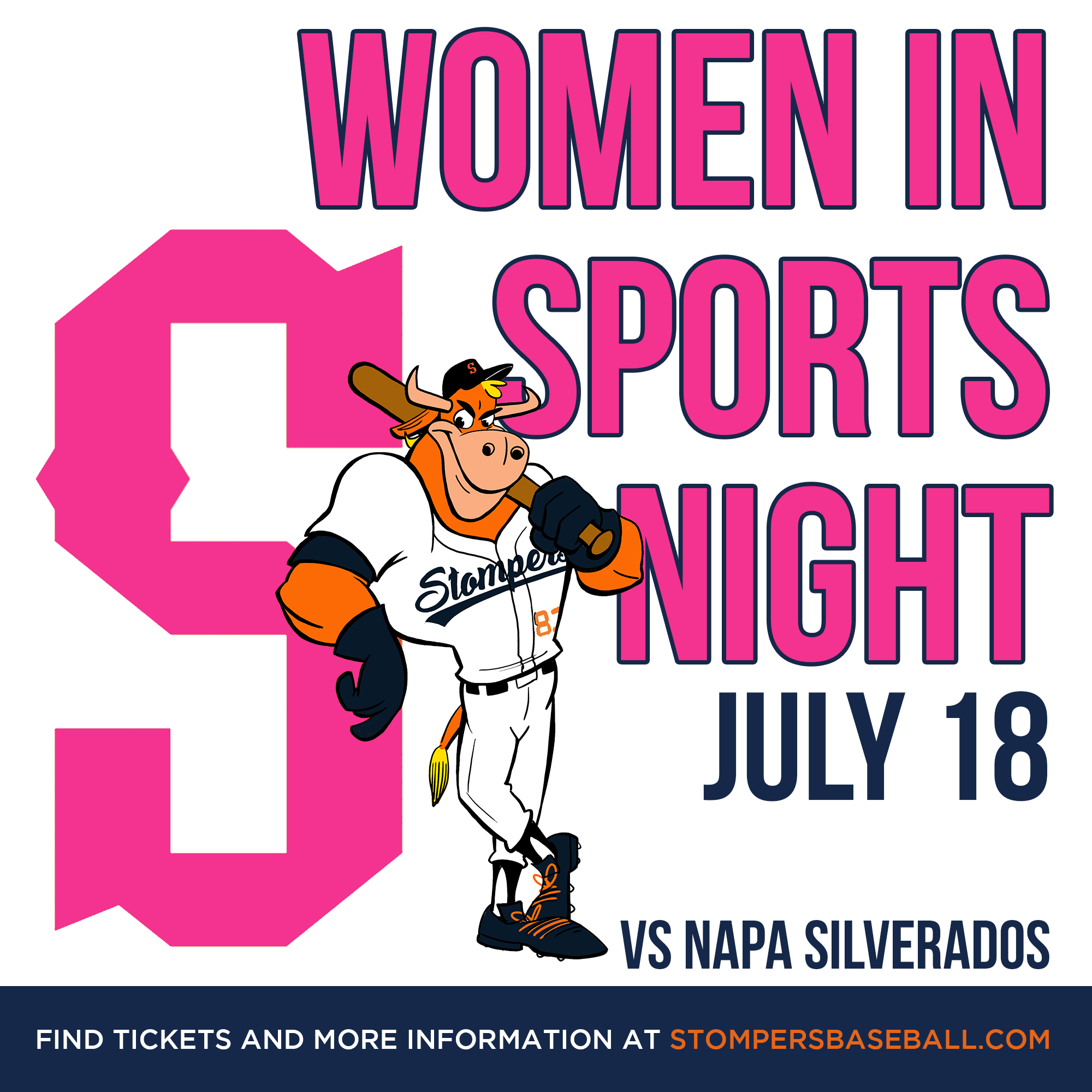 July 18: Women in Sports Night - Come out to the Palooza Park at Arnold Field for Women in Sports Night