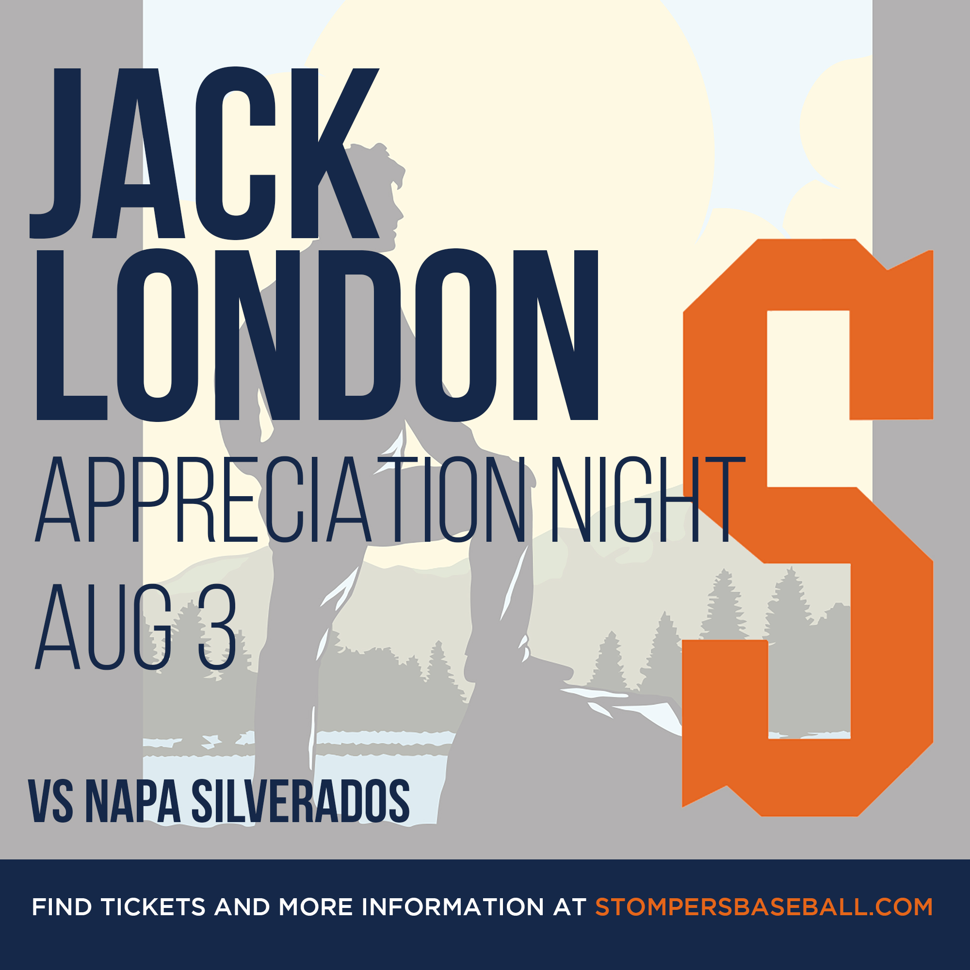 Aug 3: Jack London Night - Watch the Sonoma Stompers take on the Napa Silverados and honor Jack London who is such a big part of our community's history!
