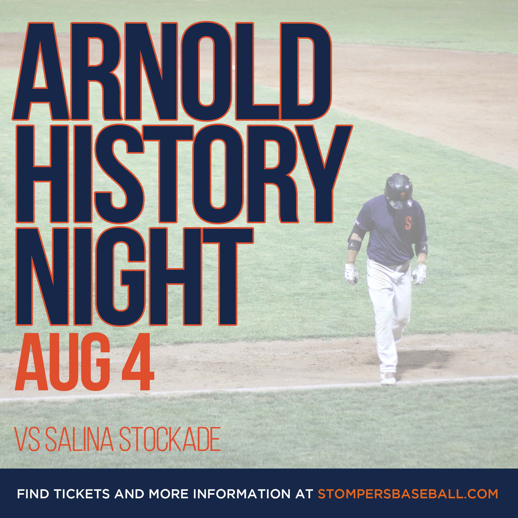 Aug 4: Arnold History Night - Arnold Field has a long history an the Stompers are honored to call it home. Come out and celebrate history that makes us proud to call it home!