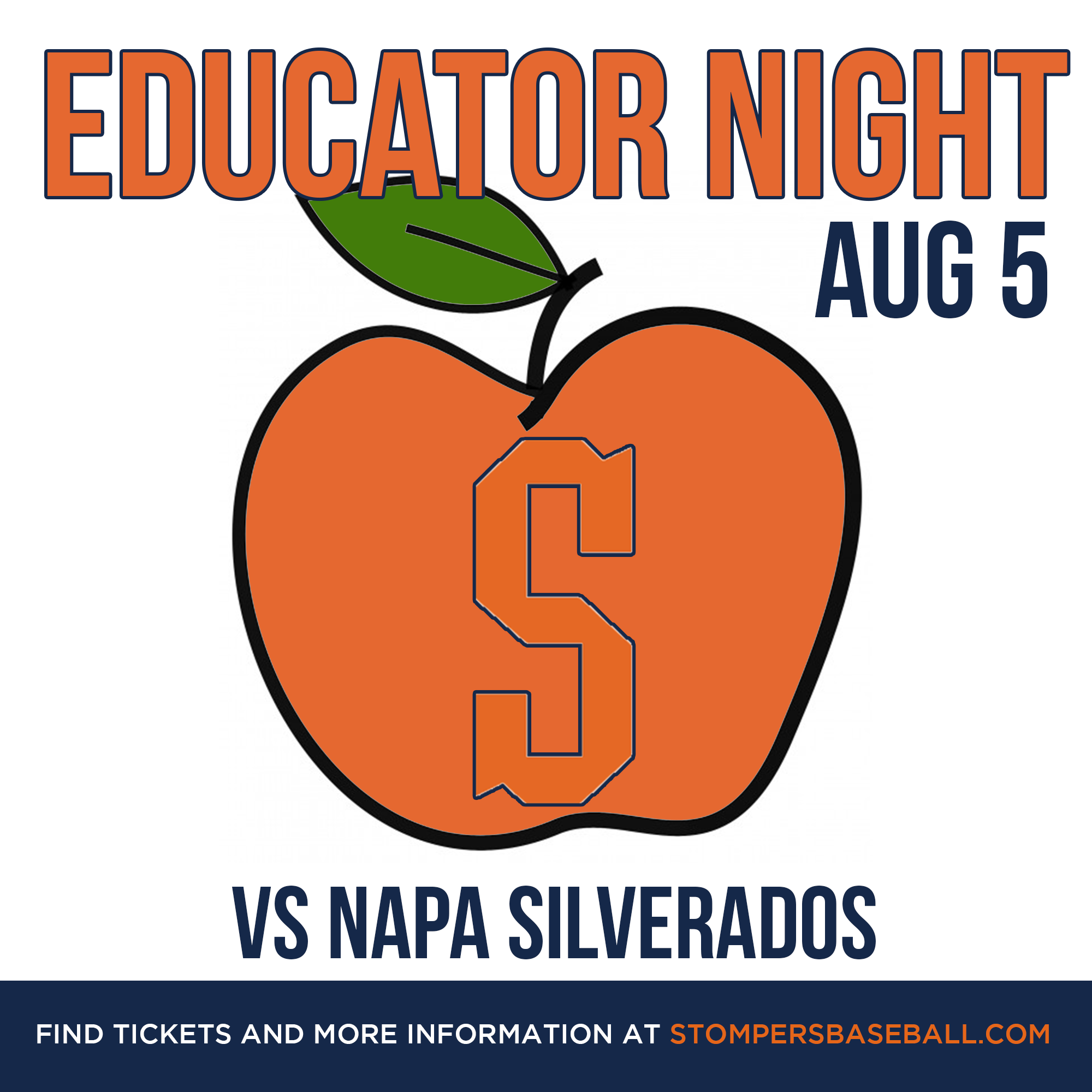 Aug 5: Educator Night - Come out to Palooza Park at Arnold Field and support our local educators in the community!