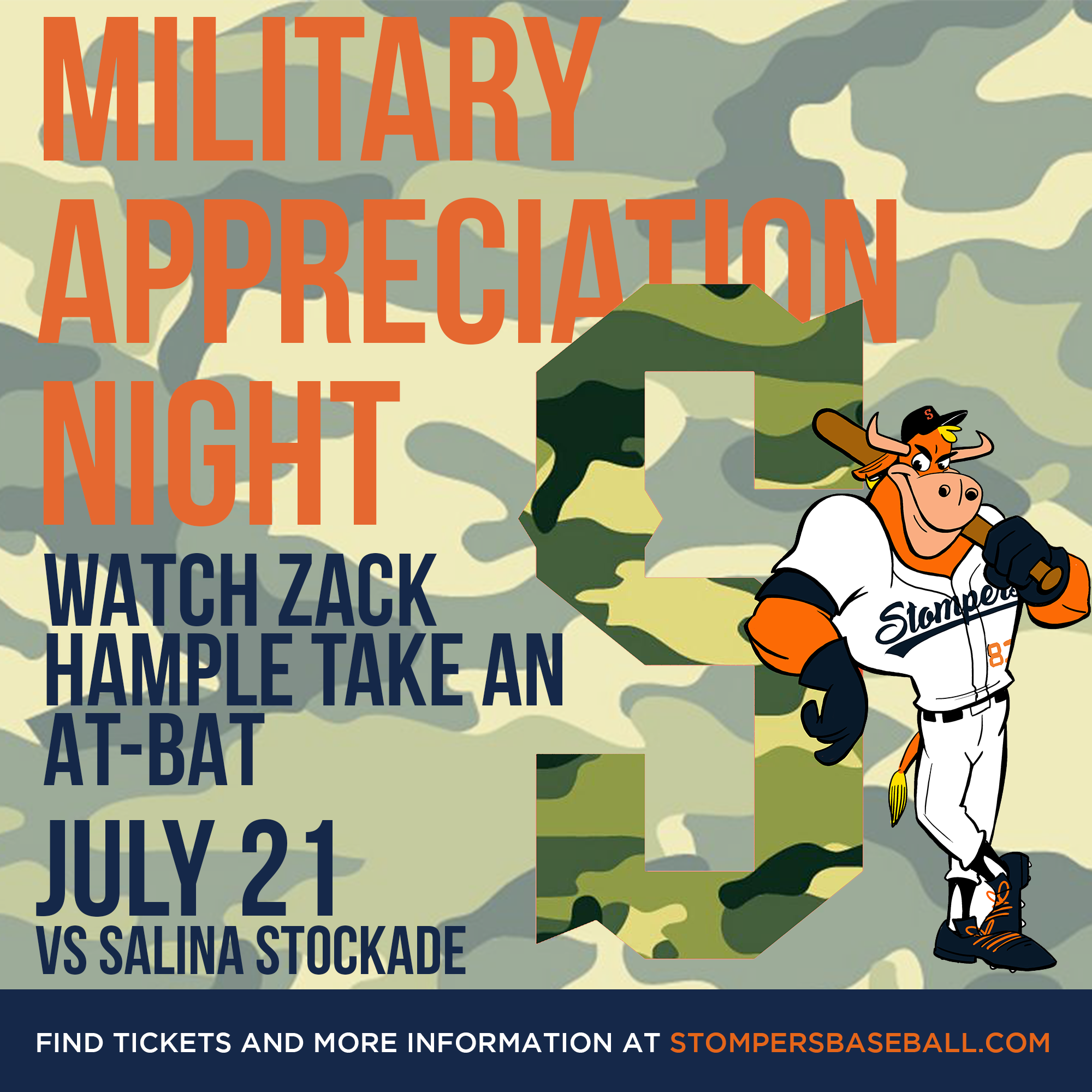 July 21: Military Appreciation Night - Come out to Palooza Park at Arnold Field and support those who protect us during Military Appreciation Night and watch Zack Hample take an-bat.
