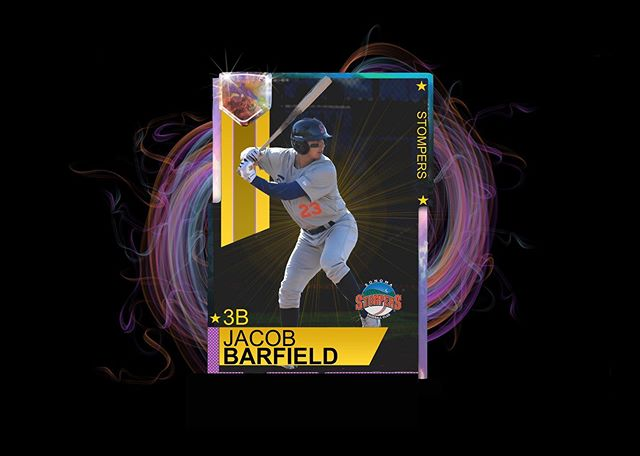 Jacob Barfield signed baseball card giveaway night!  Be the first 100 fans at Palooza Park at Arnold Field on July 9th to get your own Barfield card!