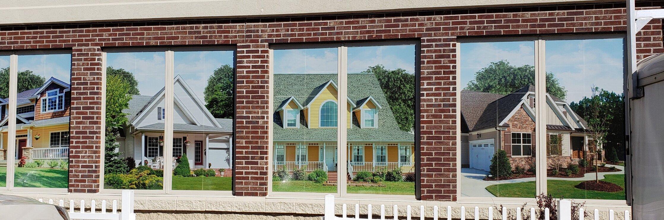 Exterior Perforated Window Vinyl
