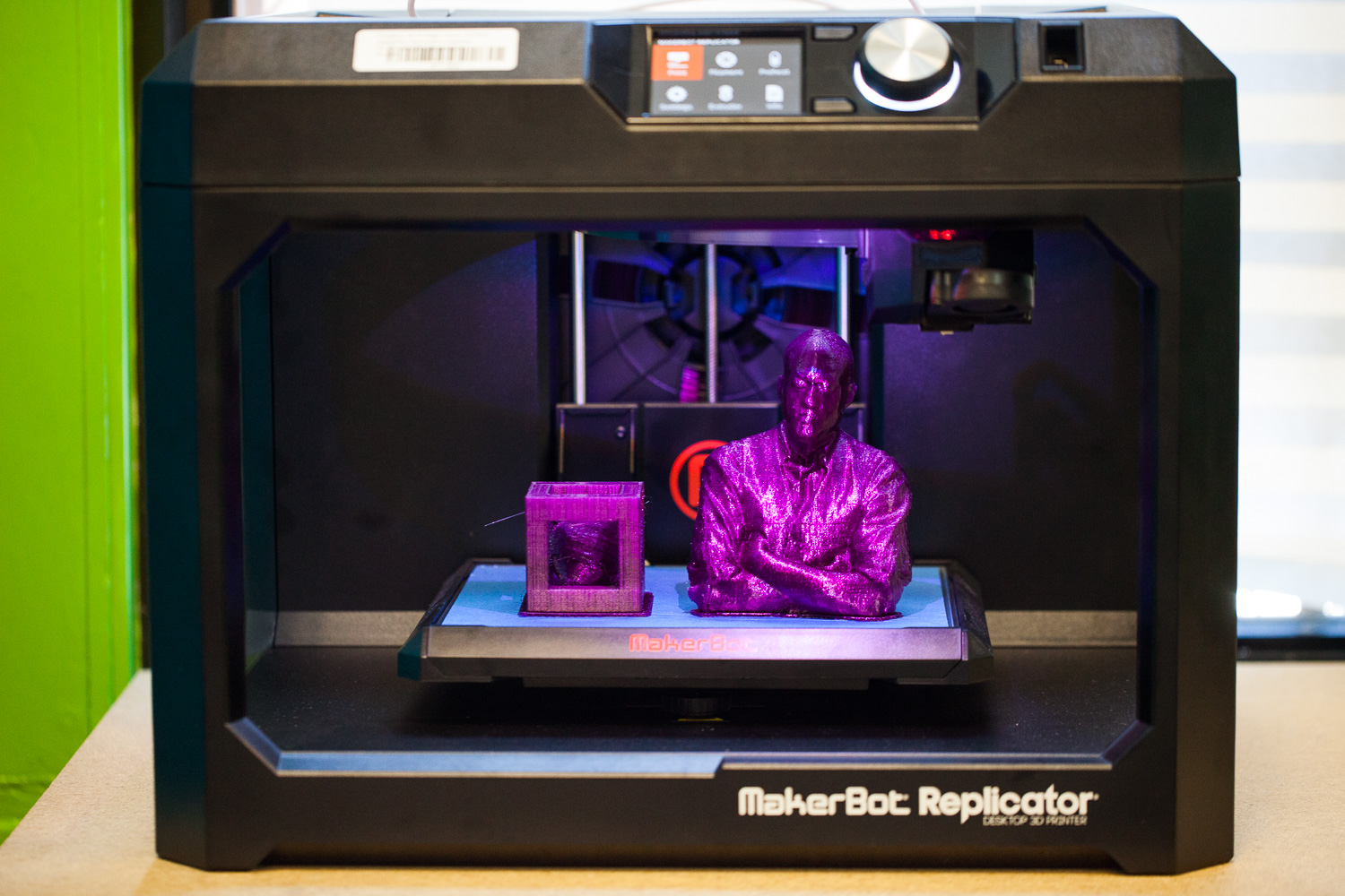 A project in process in a 3-d printer at cyc-sidney epstein youth center