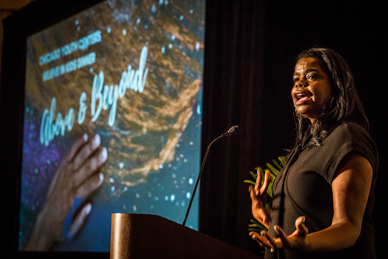 """The Honorable Kim Foxx, Cook County State's Attorney and CYC alumna, gave the keynote speech. She spoke about the people who recognized her potential when she was a child growing up in Cabrini Green. """"I am the product of the family members, teachers, strangers, and organizations who believed in me."""""""