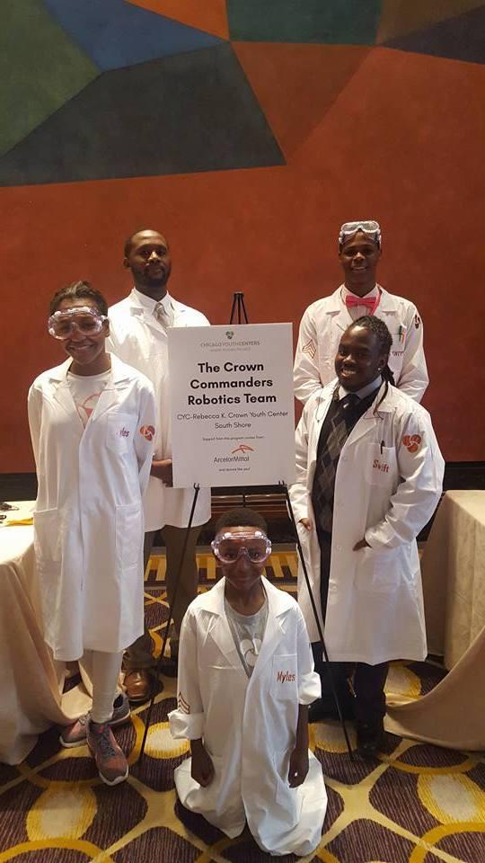 The Crown Commanders Robotics Team at CYC's Believe in Kids Dinner