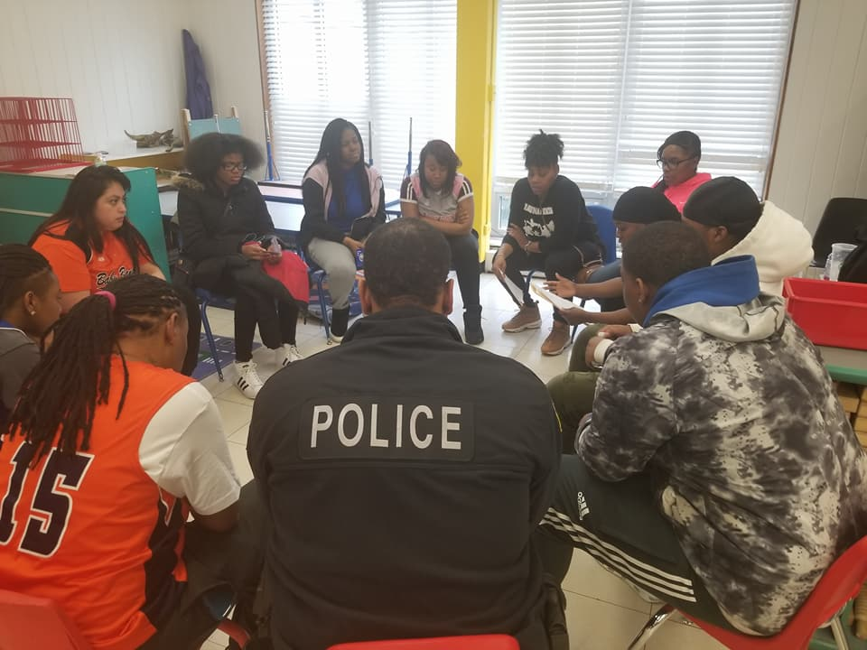 Teens and community members participated in peace circles intended to spur community conversations.