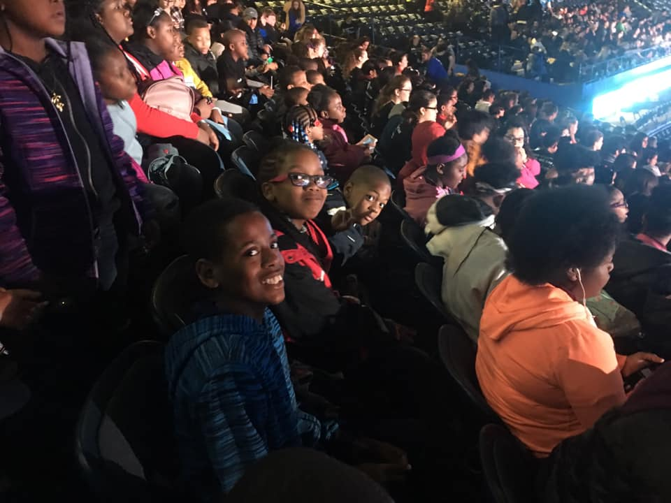 Youth from CYC-Epstein at We Day.