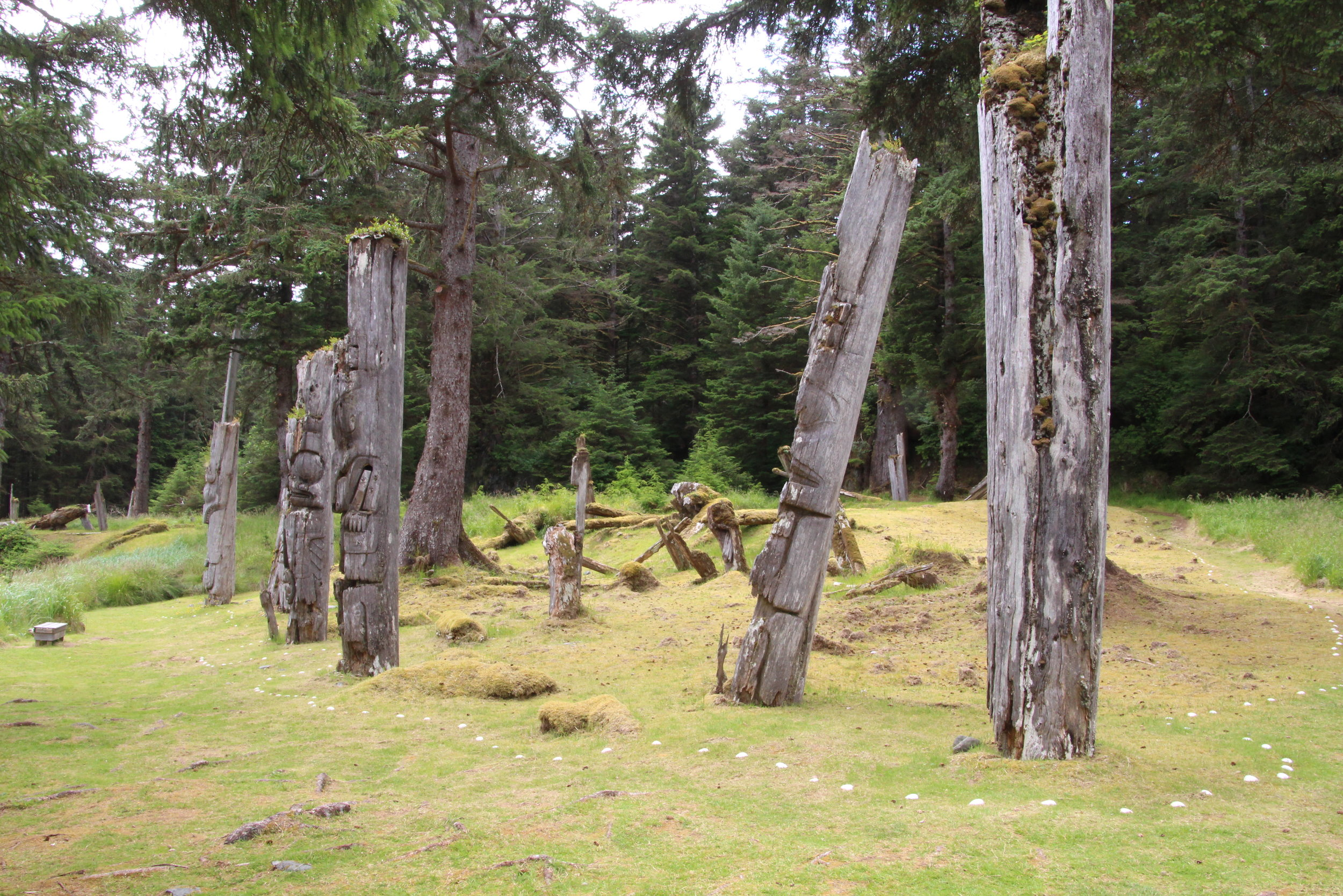 Haida Gwaii - Totem Poles - Photo by Ken Kellett.JPG