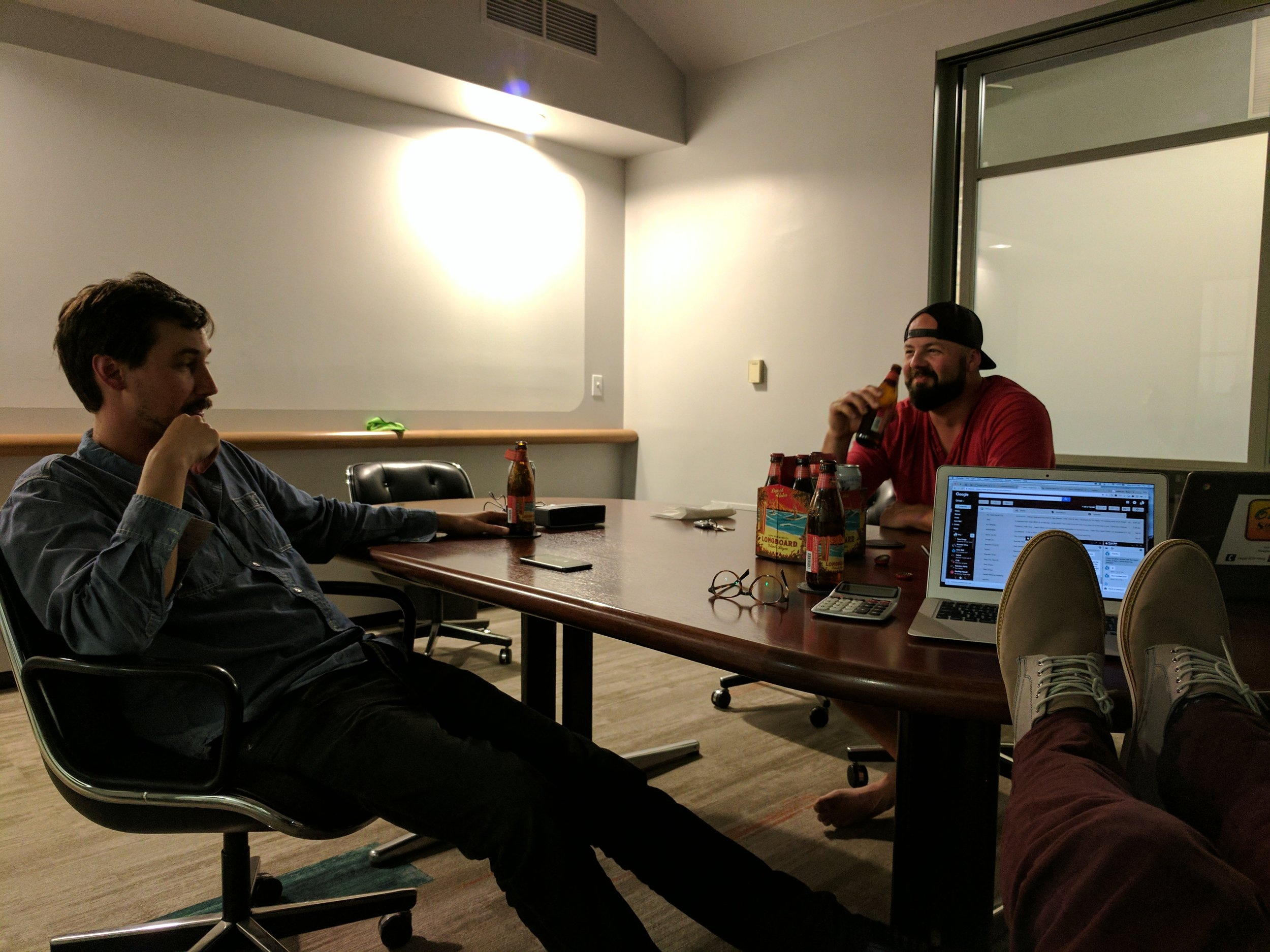 Sometimes after hours meetings have beers (if you come to our office!)
