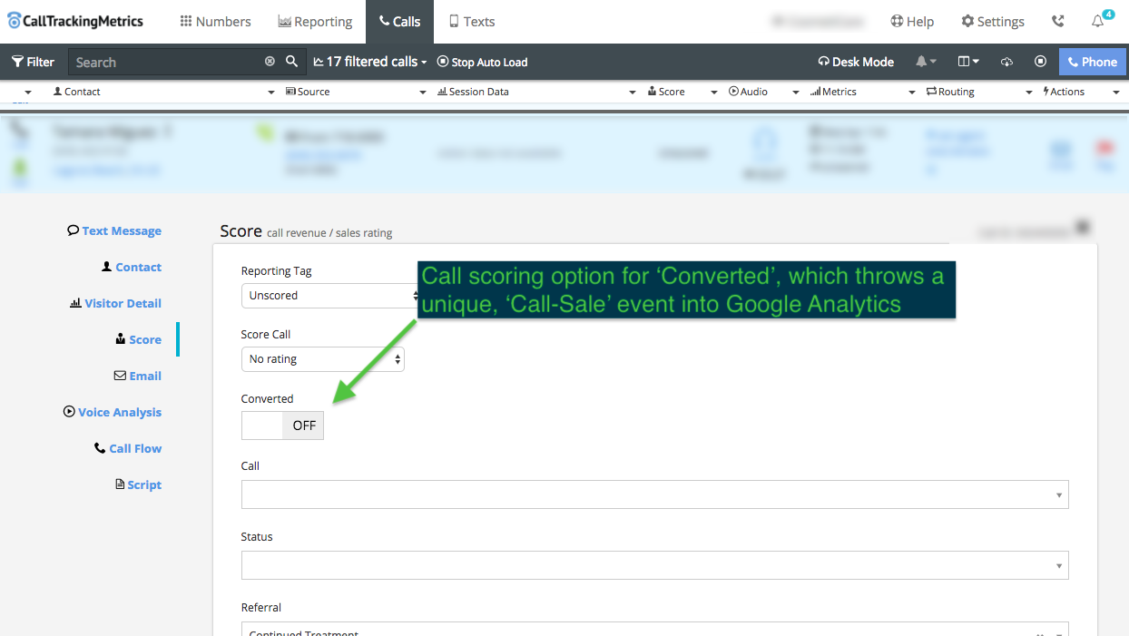 Using CallTrackingMetrics to Feed Appointment Conversion Data to Google Analytics