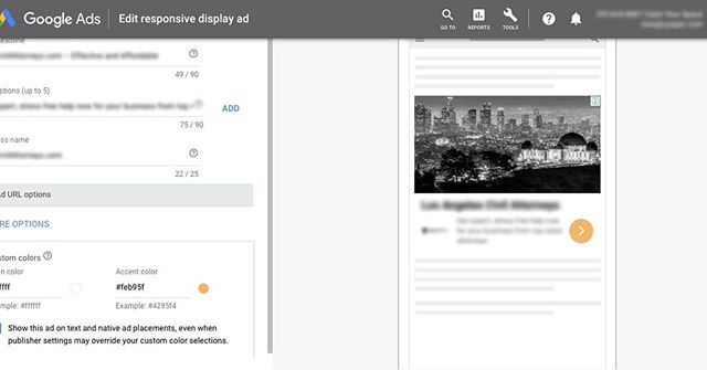 Custom CTA colors on Google Responsive Display Ads—cool! #googleads #cta