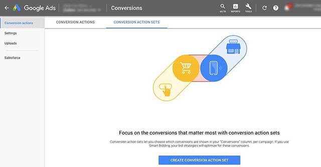 "We're starting to get access to these ""Conversion Sets"" in Google Ads—so we can tilt the TargetCPA bidding to focus on important conversions. Super helpful. ⠀ ⠀ As we've leaned into bid automation we've also ended up measuring more types of conversions—like time-on-site or page depth. Not traditional 'leads'. ⠀ ⠀ Now it looks like we're going to be able the get the best of both worlds. Feed the TargetCPA or MaxConversions models tons of data—but also tell them to ""focus on these conversions specifically""⠀ ⠀ #googleads"