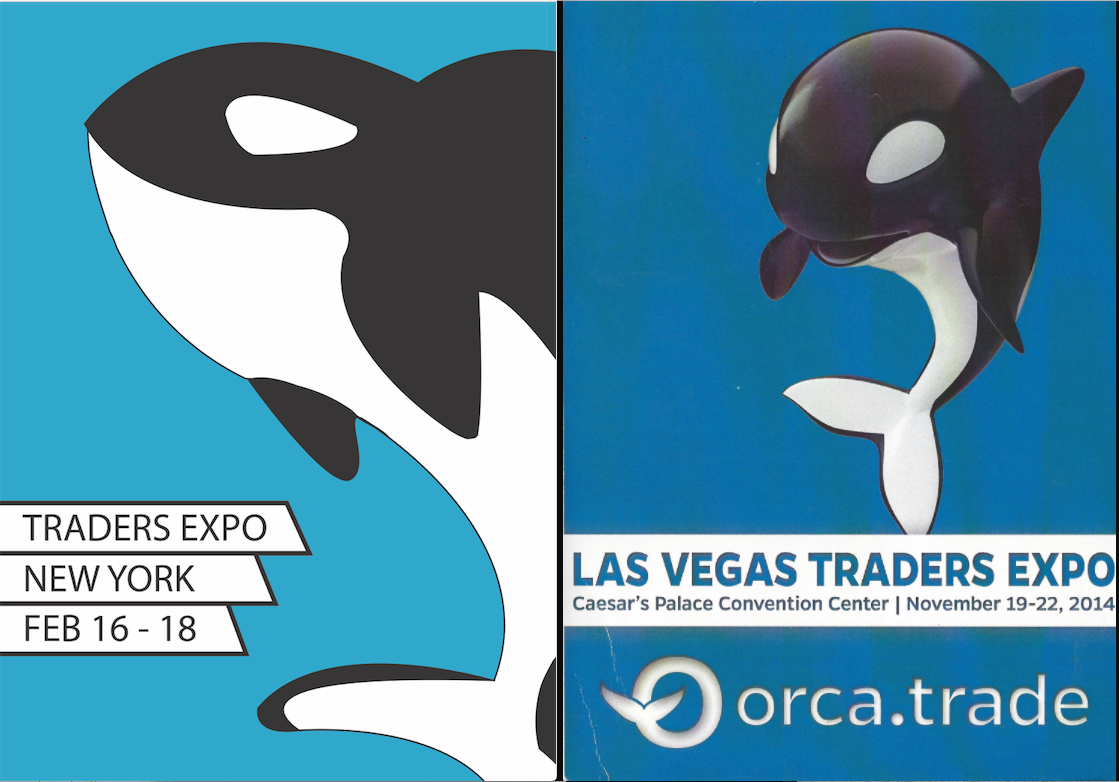 Evolution of a Whale - So, killer whales are in the dolphin family... that aside, this logo became high tech. It's a 3D vector model, like a video game character. We got a great response with it. Orca was made to be cutesy and approachable, plus, an anatomically correct orca looks funny out of water.