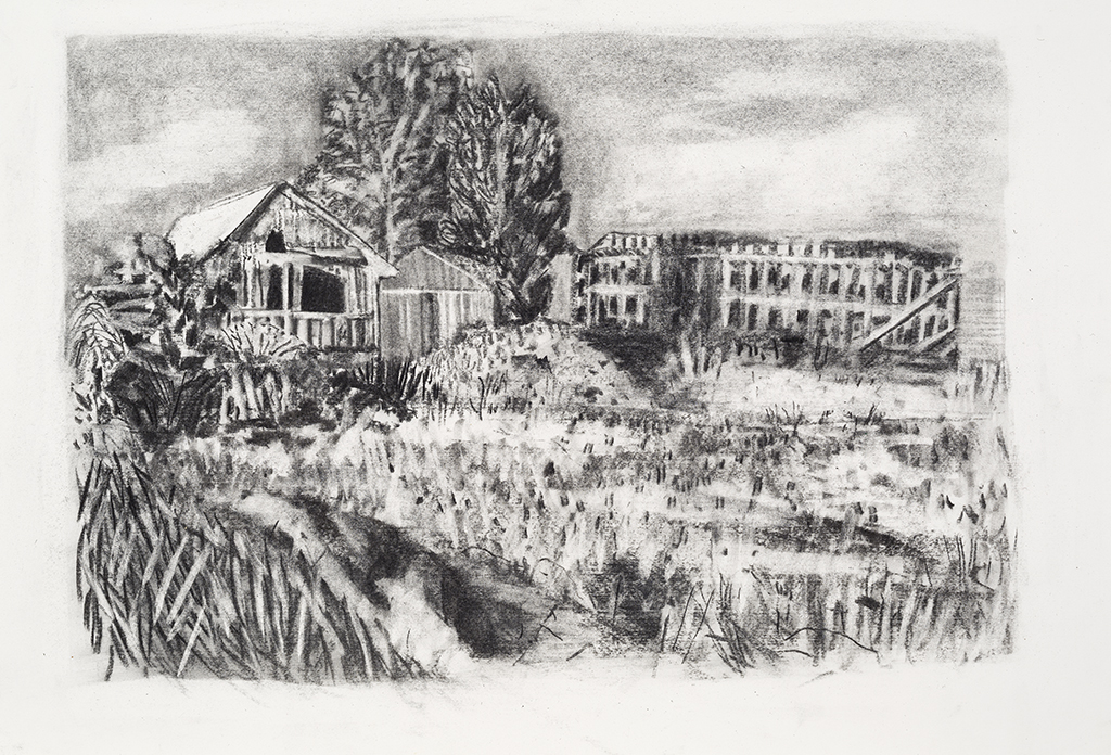 St-Jude, charcoal on paper,15x21 inches,2014