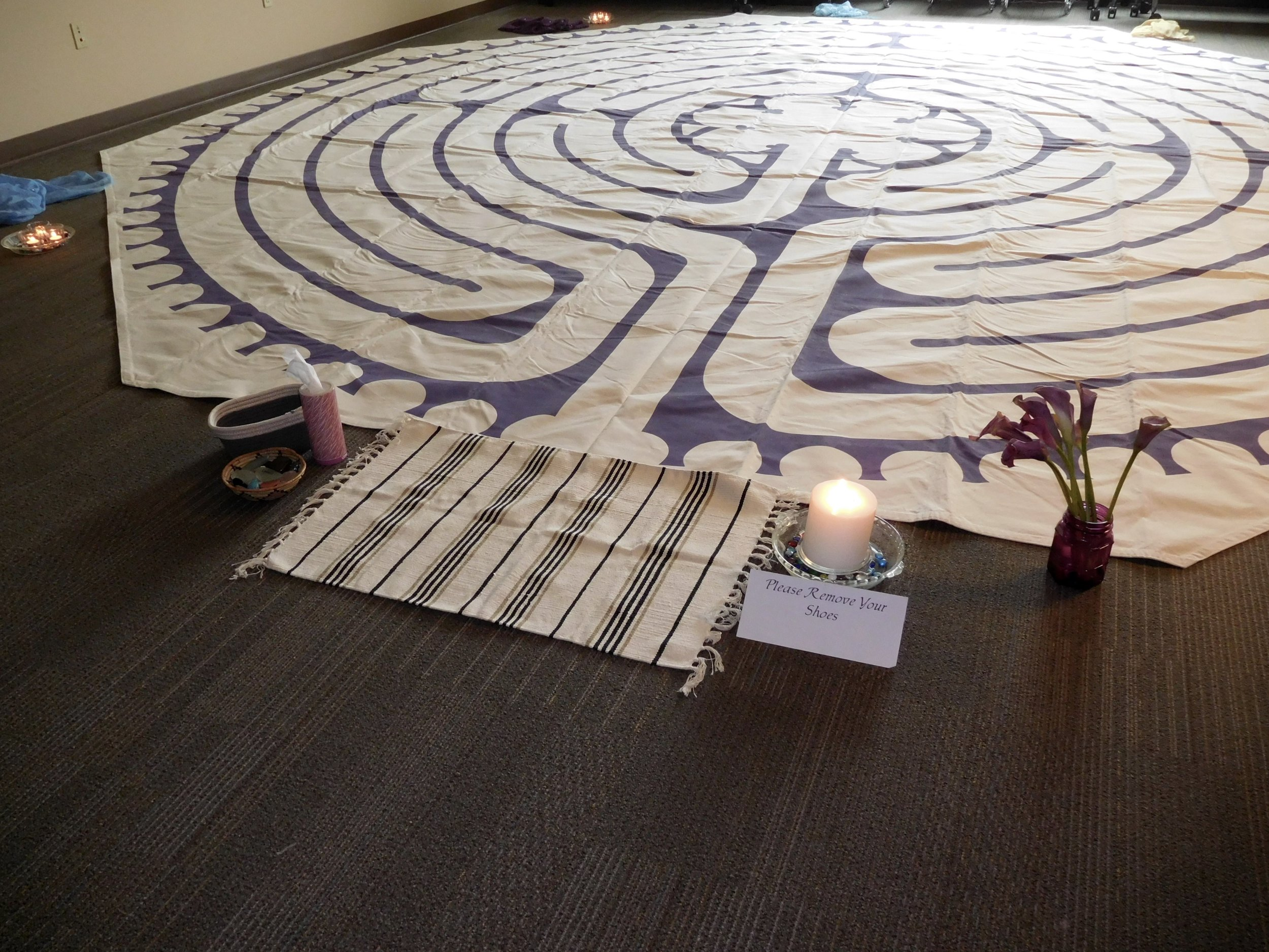 Labyrinth set up for in-service for Serenity Hospice.