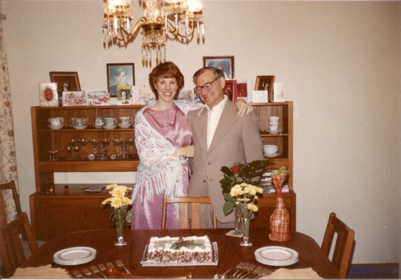 Dad and I, 12/80, College Graduation.