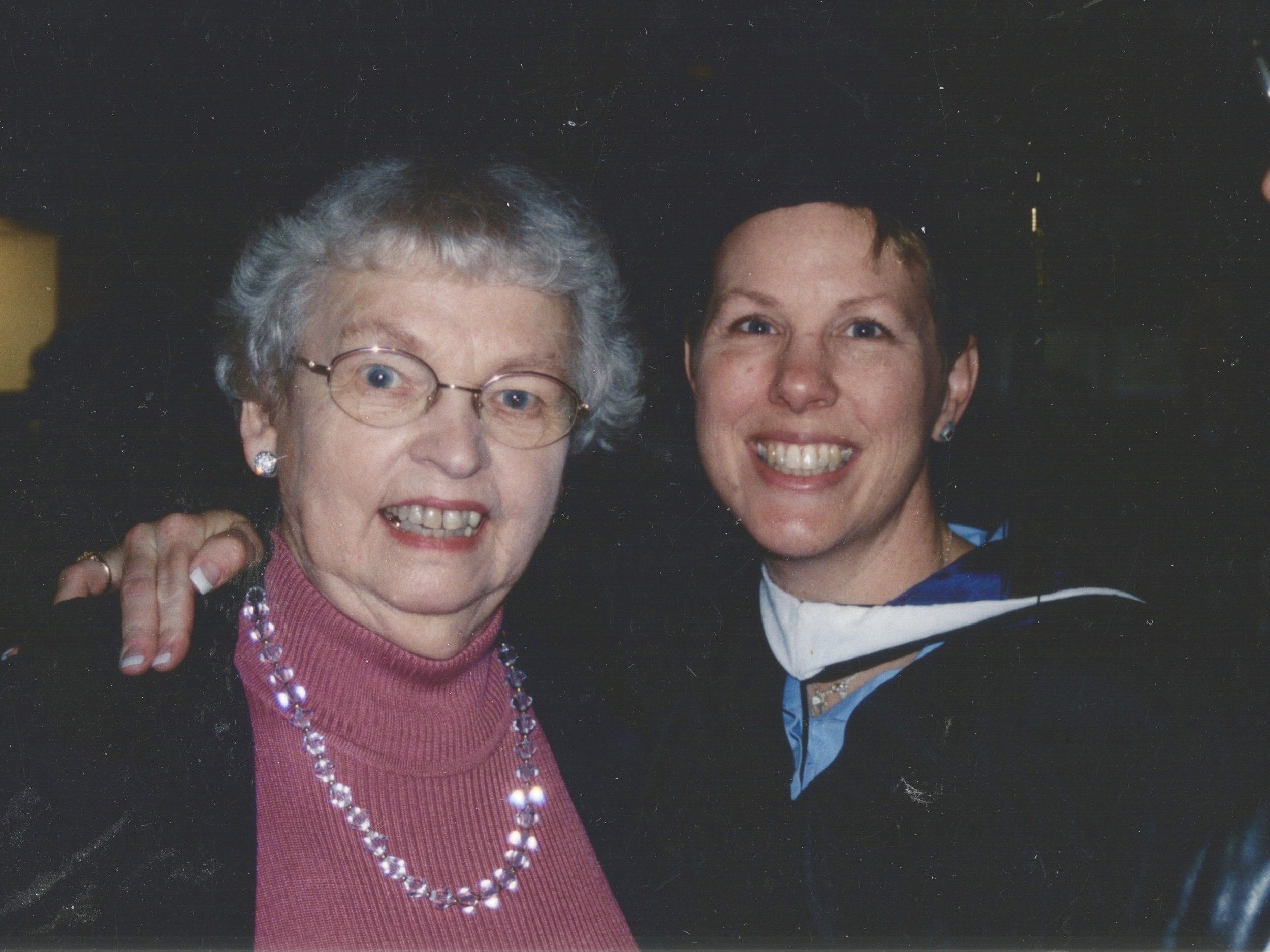 A life milestone-commemorating my graduations from seminary with my mom in 2003.