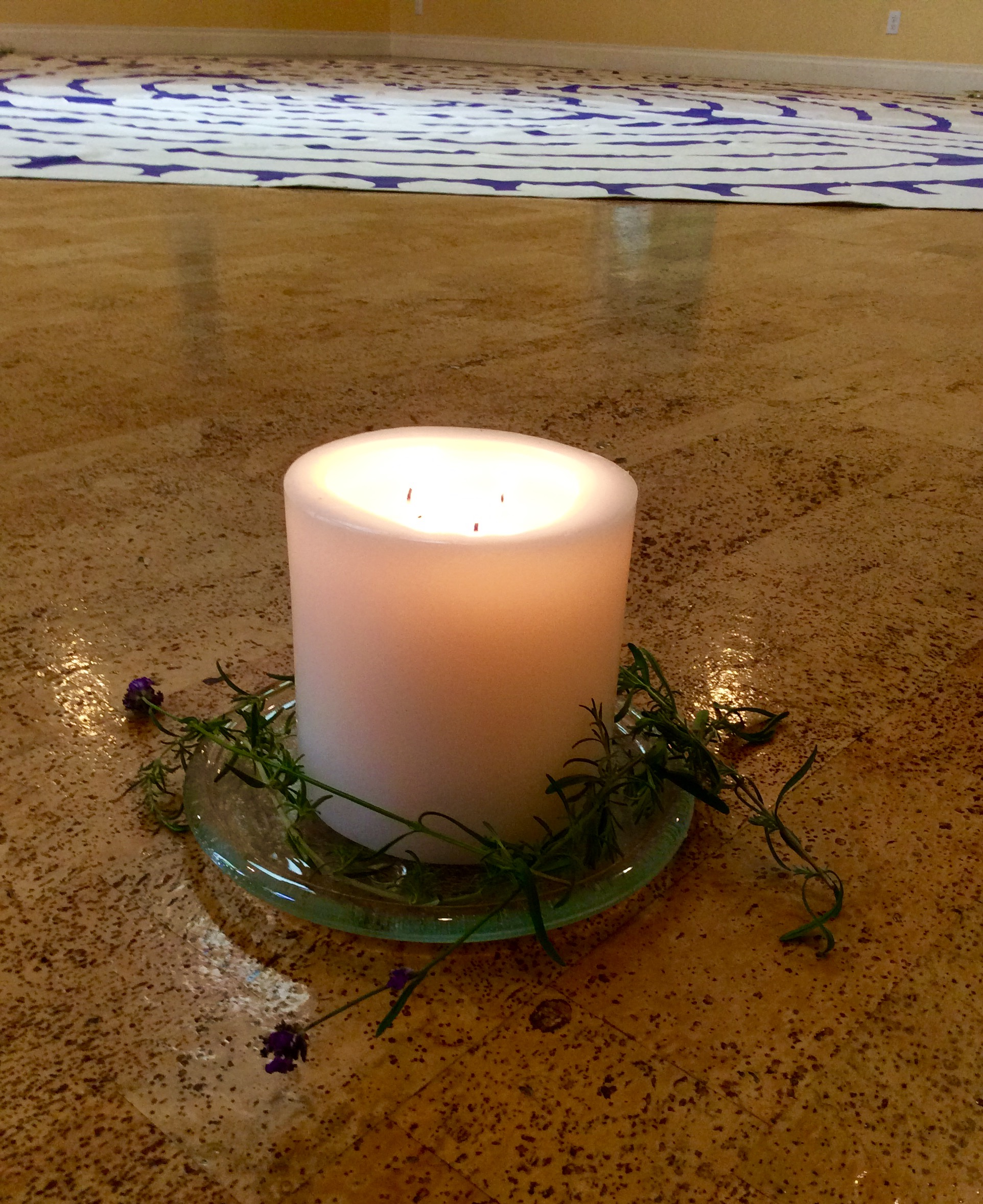 Candle & Rosemary for Remembrance
