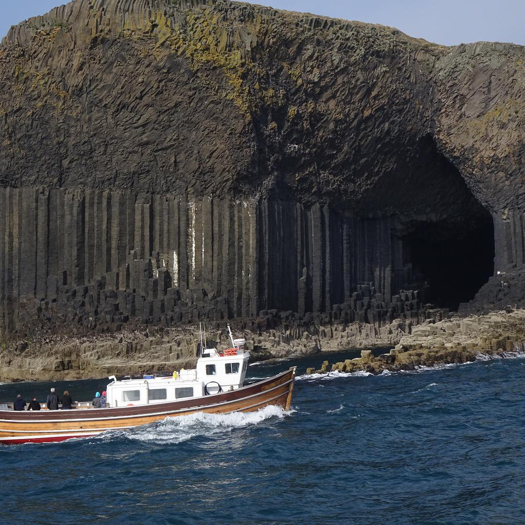 Staffa and Fingal's Cave. Photo by anne richardson